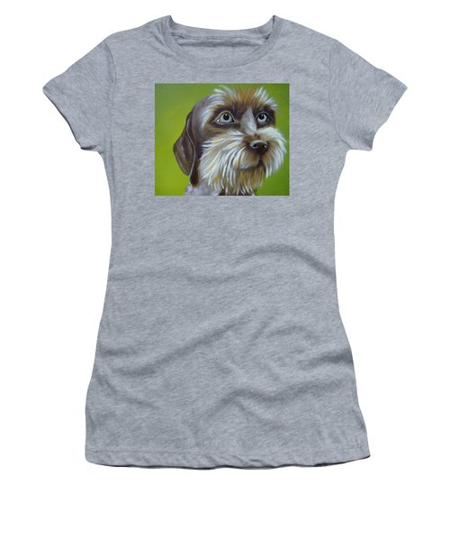 Terrier Waiting Patiently Women's T-Shirt (Athletic Fit)