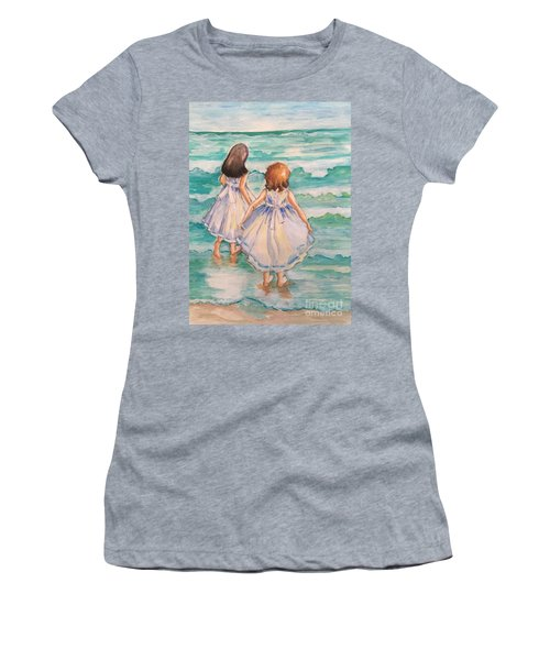 Testing The Waters Women's T-Shirt (Junior Cut) by Rosemary Aubut