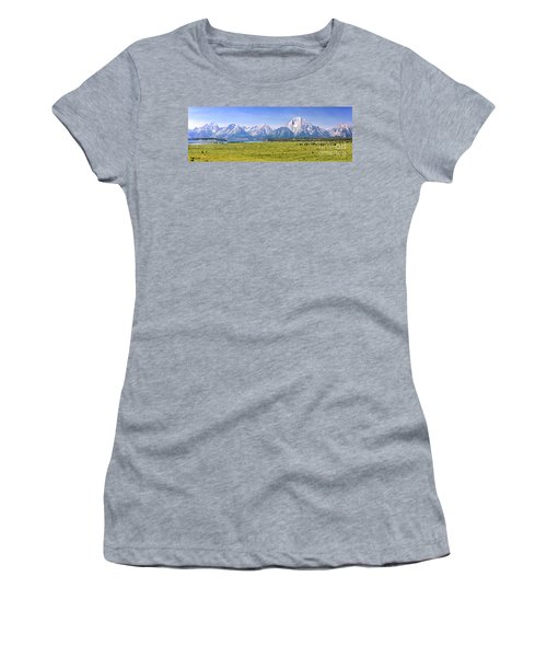 Teton Panorama Women's T-Shirt (Athletic Fit)