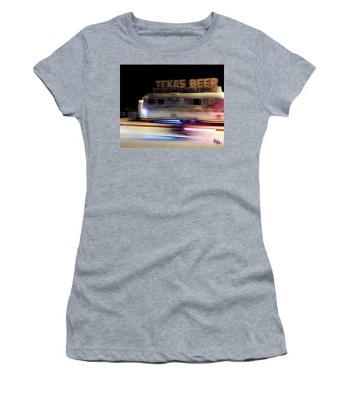 Texas Beer Fast Motorcycle #5594 Women's T-Shirt (Junior Cut) by Barbara Tristan