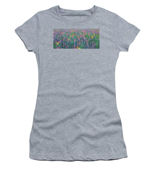Texas Wildflowers Abstract Women's T-Shirt
