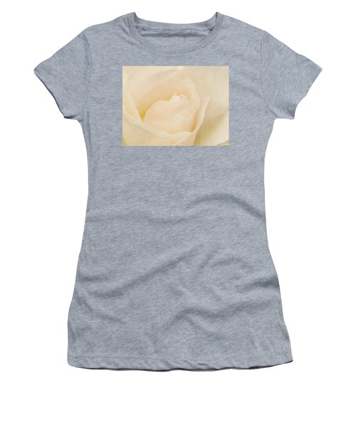 Textured Pastel Rose Women's T-Shirt (Athletic Fit)