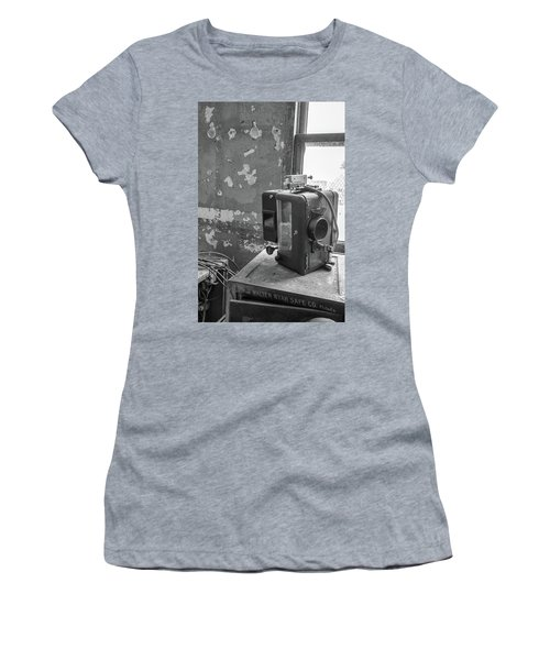 The Abandoned Projector Bw Women's T-Shirt (Athletic Fit)
