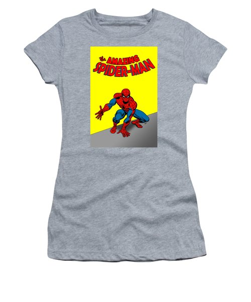 Women's T-Shirt (Athletic Fit) featuring the painting The Amazing Spider-man by Antonio Romero