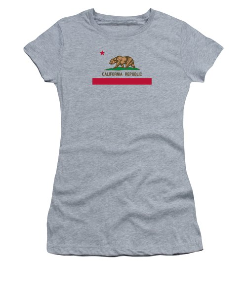 The Bear Flag - State Of California Women's T-Shirt (Athletic Fit)