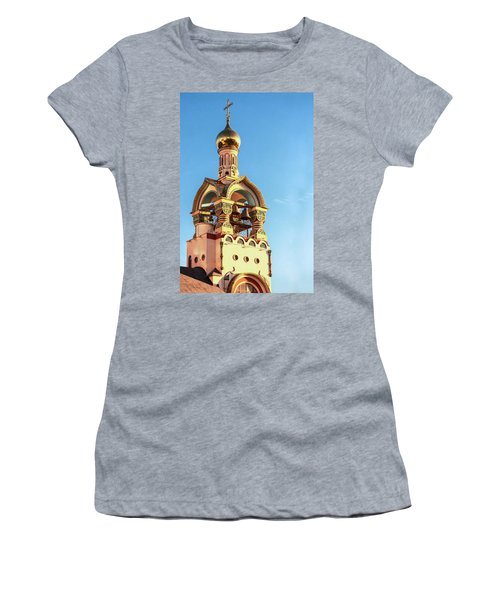 The Bell Tower Of The Temple Of Grand Duke Vladimir Women's T-Shirt (Athletic Fit)