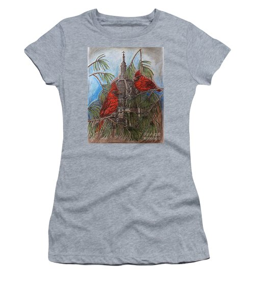 The Cardinals Visit St.pauls Cathedral Women's T-Shirt (Junior Cut) by Kim Jones