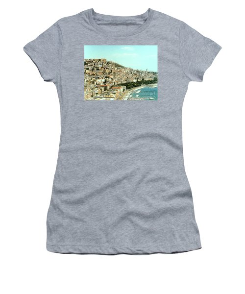 Women's T-Shirt (Athletic Fit) featuring the photograph The City Of Sorrento, Italy by Merton Allen
