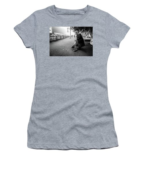 Women's T-Shirt (Athletic Fit) featuring the photograph The Cleaner Of Leaves by John Williams