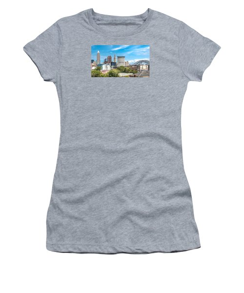 The Cleveland Skyline Women's T-Shirt (Athletic Fit)