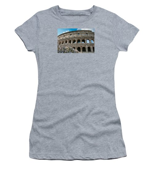 The Coliseum In Rome Women's T-Shirt (Junior Cut) by Kathleen Scanlan