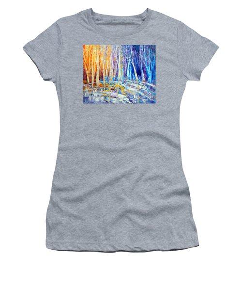 The Color Of Snow Women's T-Shirt (Junior Cut) by Tatiana Iliina