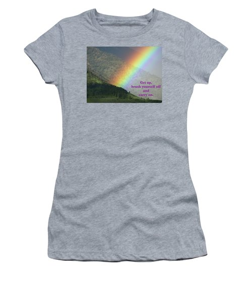 Women's T-Shirt (Junior Cut) featuring the photograph The Colors Of The Rainbow Carry On by DeeLon Merritt