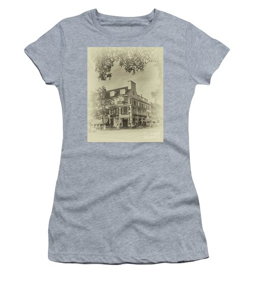 The Corner Room In Sepia Women's T-Shirt (Athletic Fit)