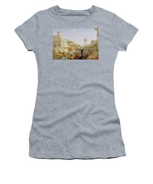 The Course Of Empire - The Consummation Of The Empire Women's T-Shirt (Athletic Fit)
