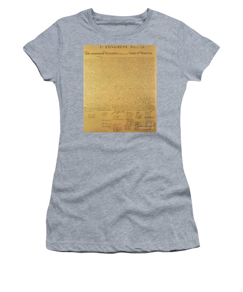 The Declaration Of Independence Women's T-Shirt (Athletic Fit)