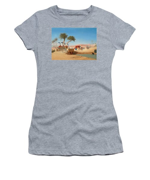 The Empress Eugenie Visiting The Pyramids Women's T-Shirt