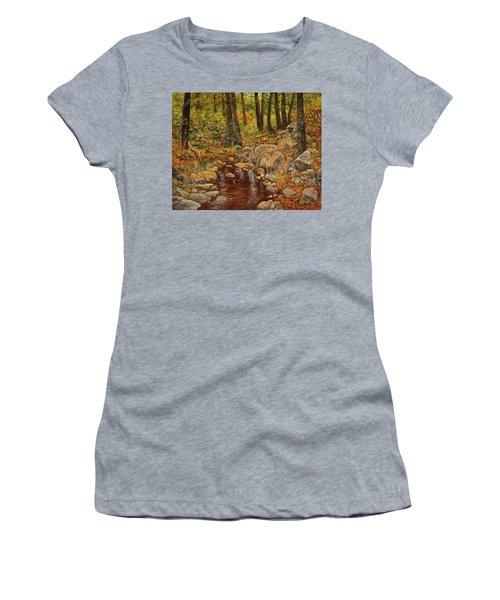 The Fall Stream Women's T-Shirt (Junior Cut) by Roena King