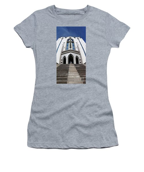 Women's T-Shirt (Athletic Fit) featuring the photograph The Fengshan Presbyterian Church In Taiwan by Yali Shi