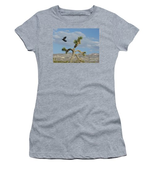 Women's T-Shirt (Junior Cut) featuring the photograph The Flight Of Raven. Lucerne Valley. by Ausra Huntington nee Paulauskaite