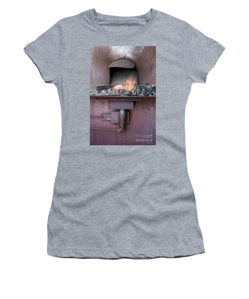Women's T-Shirt (Athletic Fit) featuring the photograph The Forge by Linda Lees