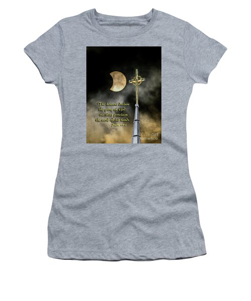 The Heavens Declare The Glory Of God Women's T-Shirt (Athletic Fit)
