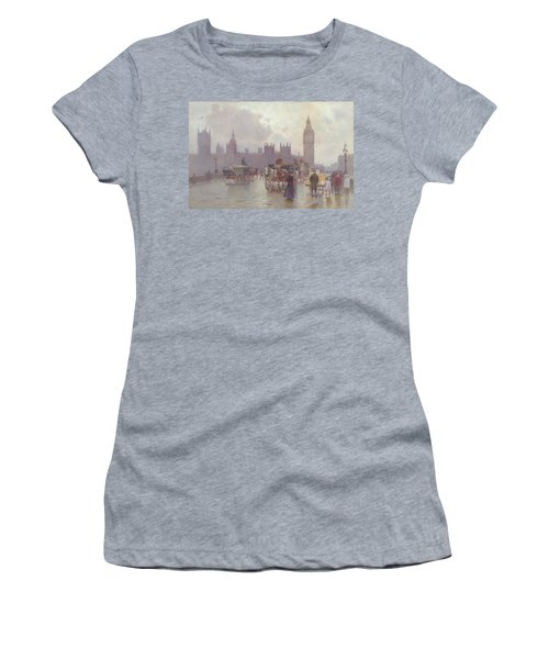 The Houses Of Parliament From Westminster Bridge Women's T-Shirt