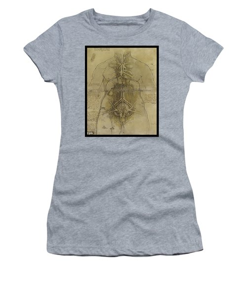 Women's T-Shirt (Junior Cut) featuring the painting The Human Organ System by James Christopher Hill