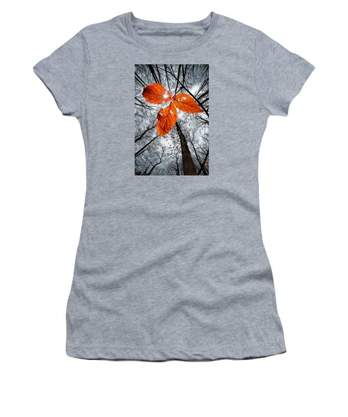 The Last Leaf Of November Women's T-Shirt (Junior Cut) by Robert Charity
