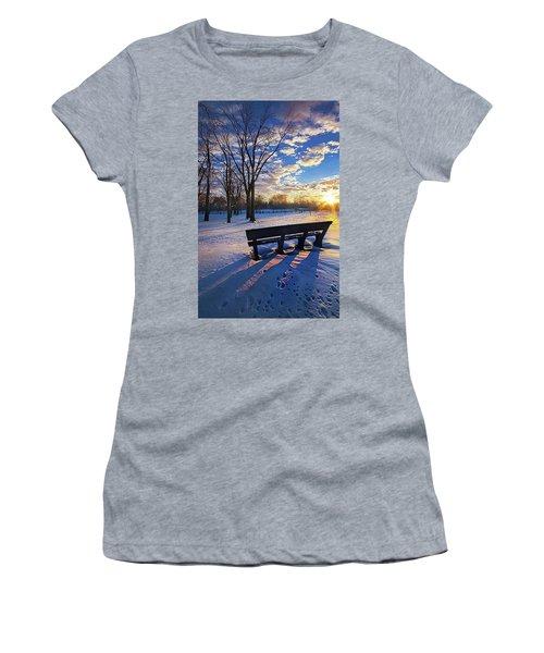 Women's T-Shirt (Junior Cut) featuring the photograph The Light That Beckons by Phil Koch