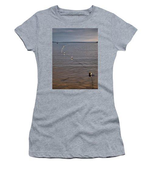 Women's T-Shirt (Junior Cut) featuring the photograph The Line by Jouko Lehto