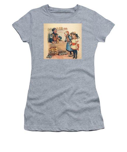 The Little Wooden Shoe Maker Women's T-Shirt (Athletic Fit)