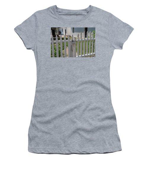 Women's T-Shirt (Junior Cut) featuring the photograph The Lock by Eric Liller