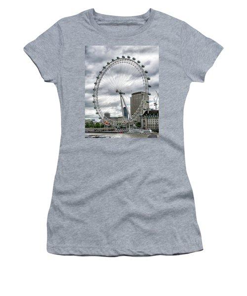 The London Eye Women's T-Shirt (Junior Cut) by Alan Toepfer