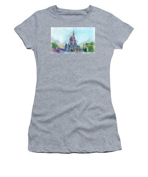 The Magic Kingdom Castle Wdw 05 Photo Art Women's T-Shirt (Athletic Fit)