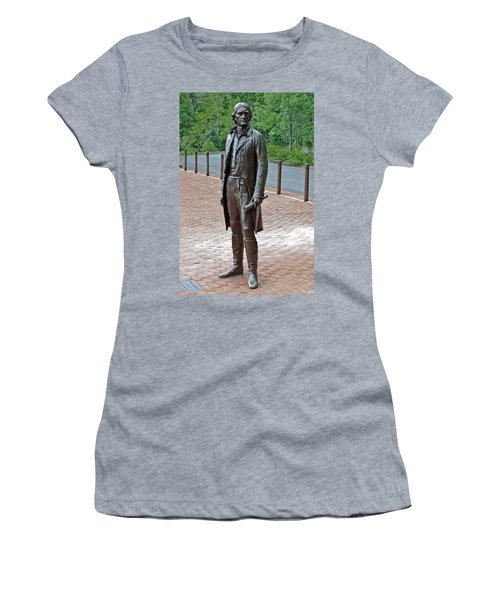 The Man Behind Monticello Women's T-Shirt (Junior Cut) by DigiArt Diaries by Vicky B Fuller