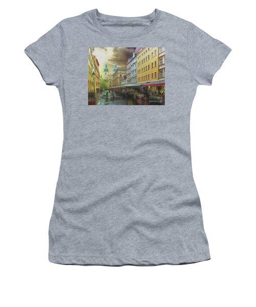 The Market In The Rain Women's T-Shirt
