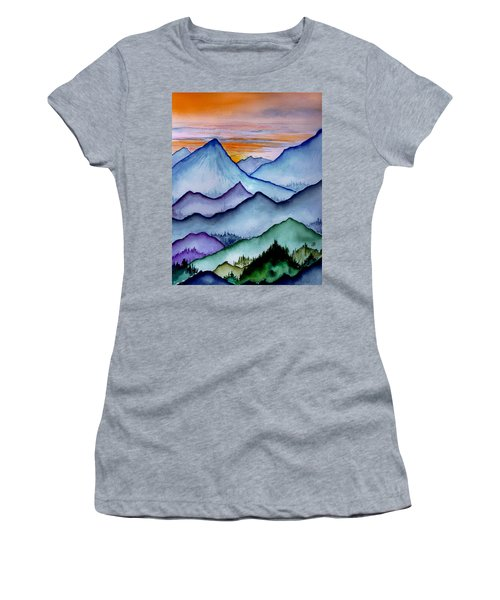 The Misty Mountains Women's T-Shirt (Athletic Fit)