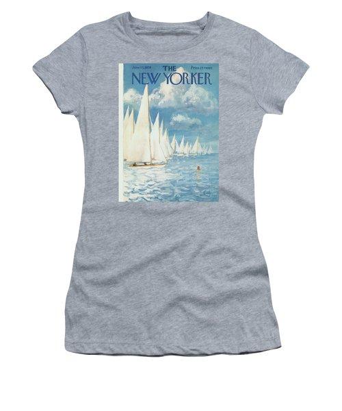 New Yorker Cover - June 13th, 1959 Women's T-Shirt