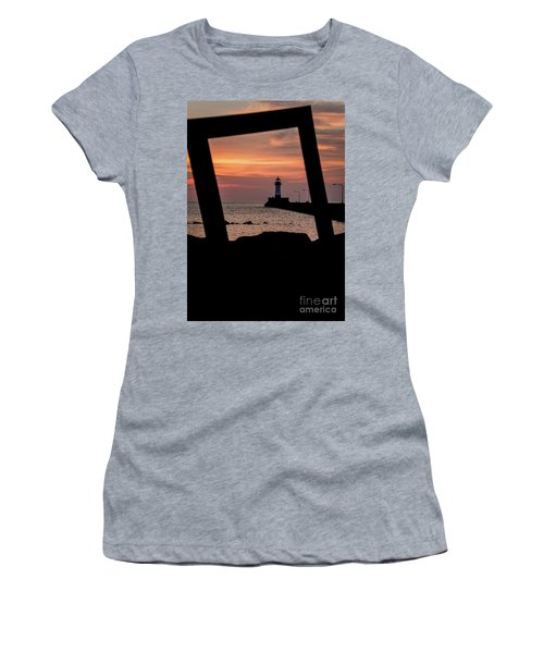The North Pier Lighthouse Women's T-Shirt (Athletic Fit)