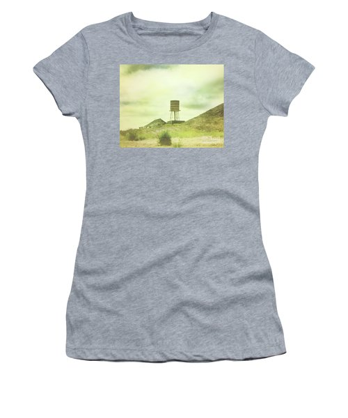 The Old Barn And Water Tower In Vintage Style San Luis Obispo California Women's T-Shirt (Athletic Fit)