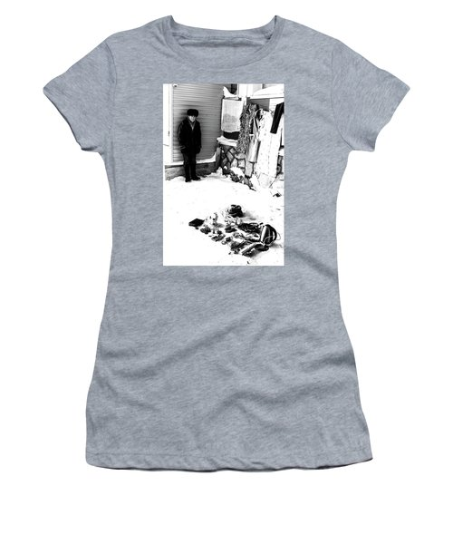 Women's T-Shirt (Athletic Fit) featuring the photograph The Old Seller by John Williams