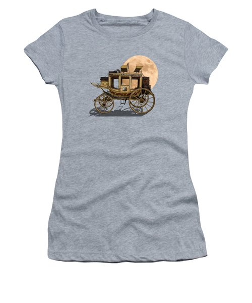 The Old Stage Coach Women's T-Shirt (Junior Cut) by John Haldane