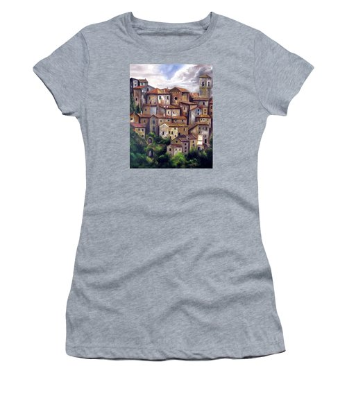 The Old Village Women's T-Shirt (Athletic Fit)