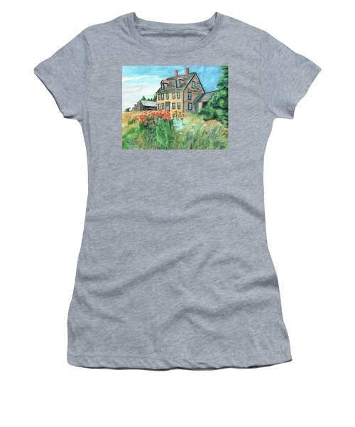 The Olson House With Poppies Women's T-Shirt (Athletic Fit)