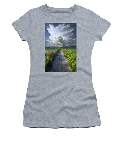 The Only Way In Women's T-Shirt (Junior Cut) by Phil Koch