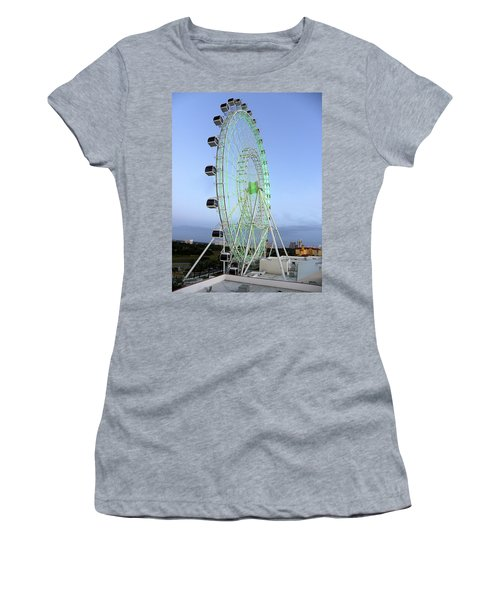 Women's T-Shirt (Junior Cut) featuring the photograph The Orlando Eye 000 by Chris Mercer