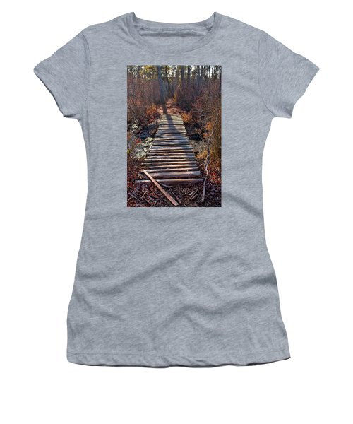 The Path Less Traveled  Women's T-Shirt (Athletic Fit)