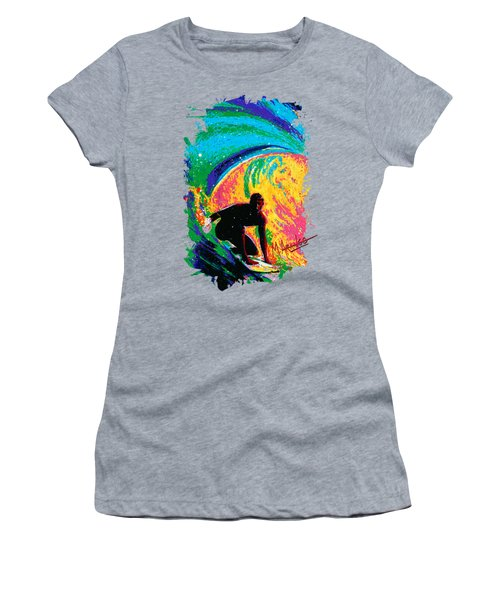 The Perfect Wave Women's T-Shirt (Junior Cut) by Maria Arango