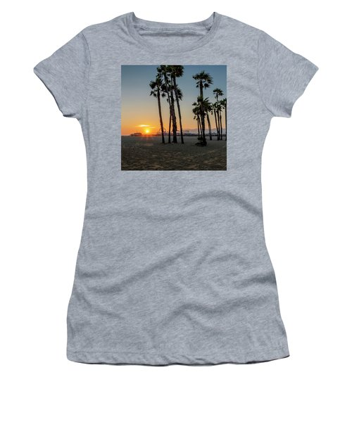 The Pier At Sunset - Square Women's T-Shirt